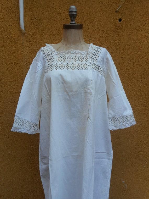 Antique White Cotton Cutout Eyelet Lace Edwardian