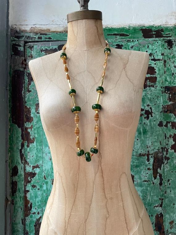 Vintage LANVIN Paris Signed Iconic Green Beaded L… - image 2