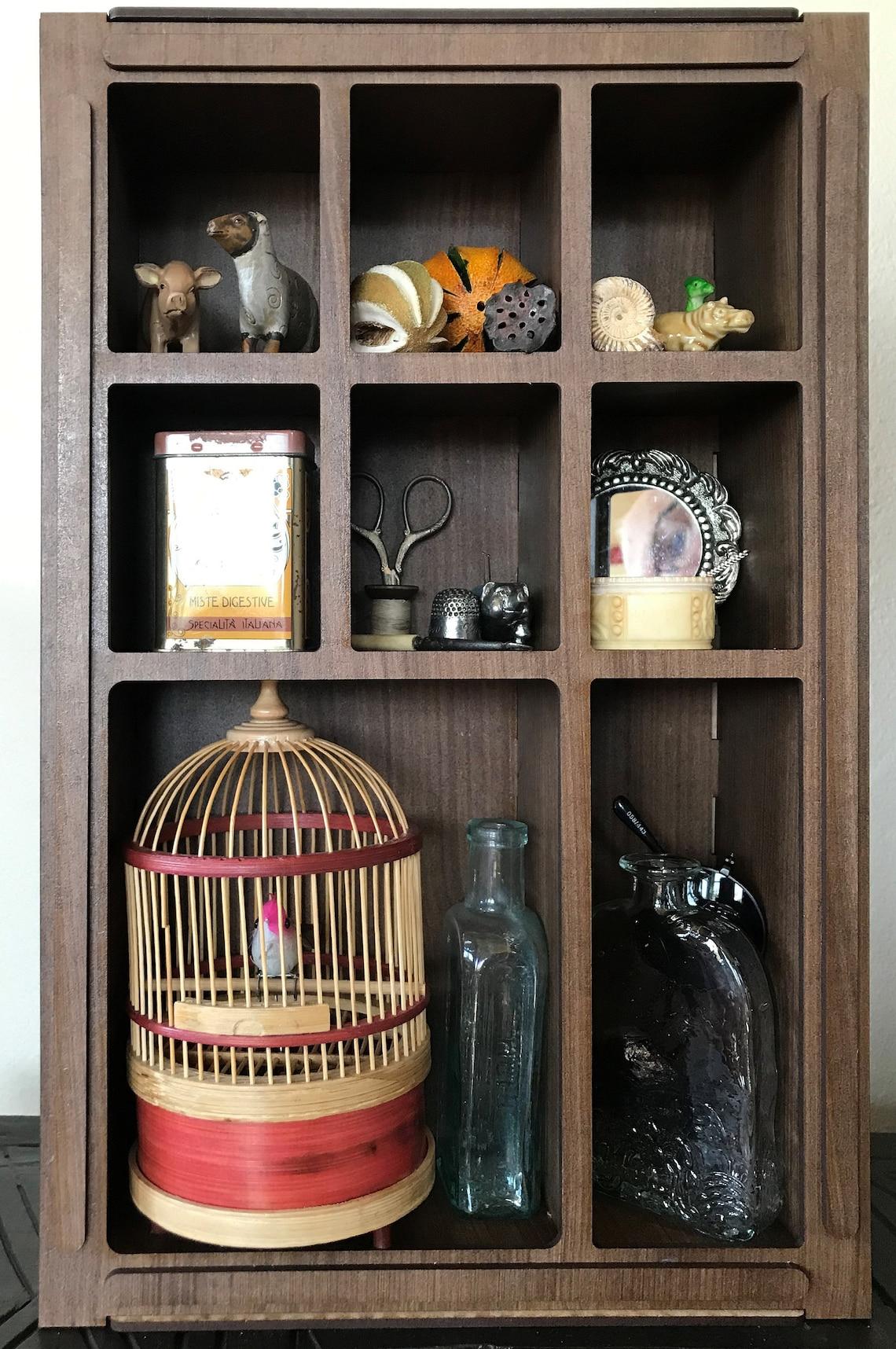 Art Deco Style Curiosity Cabinet for Your Curiosities, Keepsakes and Objets d'art