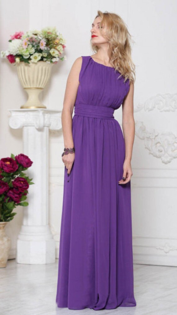 Long Lavender Bridesmaid Dress / Full
