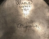 Wagner Ware Sidney O Aluminum pot and lid.