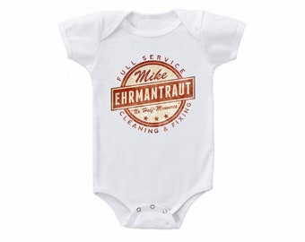 cfee2f8ff Breaking Bad Onesie Bodysuit Or Toddler Tshirt Mikes Full Service Cleaning