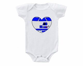 Star Wars R2D2 Heart Onesie  Or Toddler Tshirt