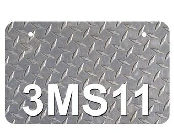 Seattle Seahawks Logo Car Tag Diamond Etched on Black Aluminum License Plate