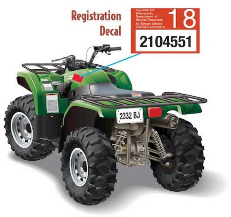 Custom ATVUTV 12 Point Buck License Plate