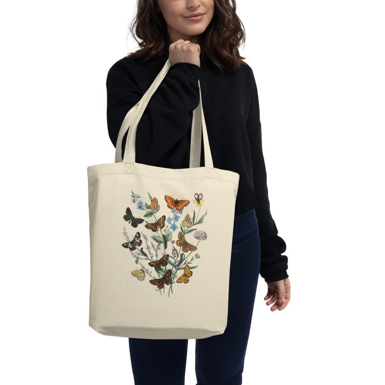 Grocery Bag Butterfly Tote Bag Gardener Gift Womens Tote Bag Shopping Bag Eco Tote Bag Christmas Gift Bag Personalized Tote