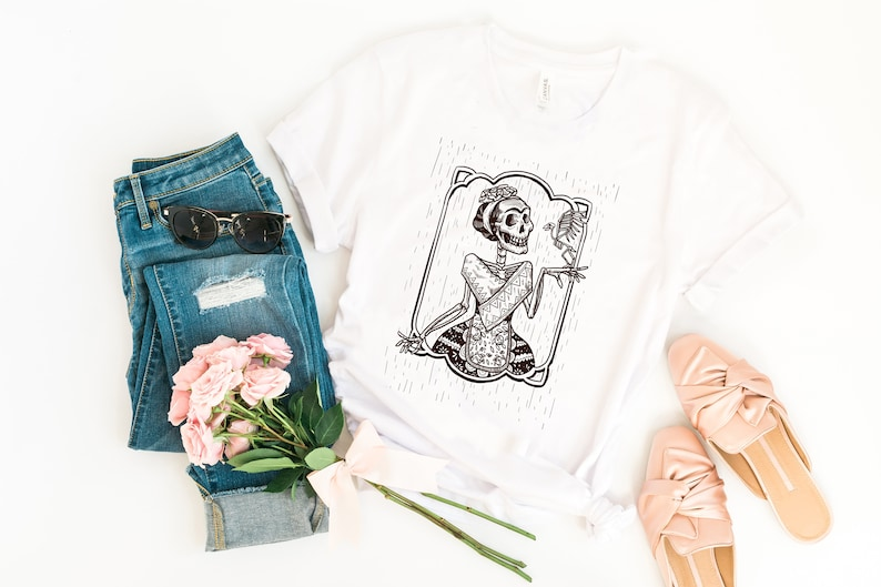 Sugar Skull Day of the Dead Women's T-Shirt Day of the image 0