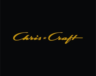 NOS  Original Decals RED Pair of Chris Craft Cavalier Decal