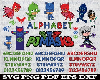 Pj Masks Svg Catboy Font Letters Alphabet Gekko Owlette Design Silhouete Cricut Clipart Cameo Digital Download Logo Gift Svg Eps Pdf Dxf Png 25083 Free Svg Fonts High Quality For Your Designs