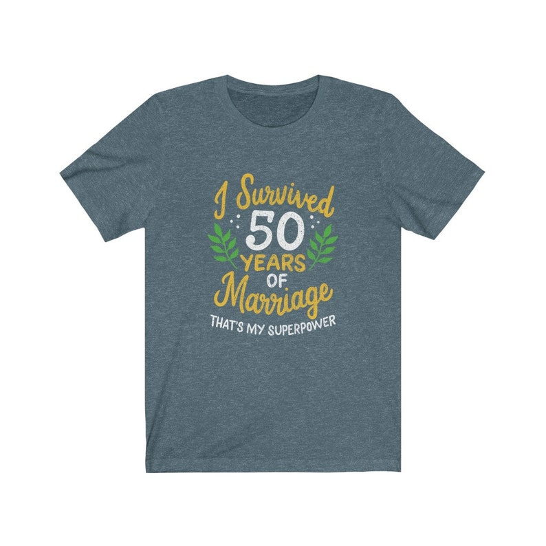 50th Wedding Gift Unisex Clothing 2 I Survived 50 Years of Marriage Anniversary Shirt 50th Year Anniversary Gift