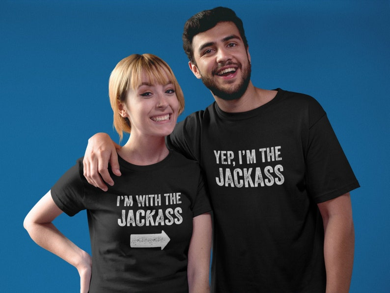 I/'m The Jackass and I/'m With The Jackass Halloween Costume Shirt Couple Unisex Tee Combo Apparel