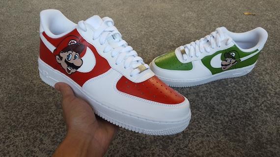 Benutzerdefinierte Nike Air Force 1 (Super Mario Bros), benutzerdefinierte Luftwaffe 1, benutzerdefinierte Nike, benutzerdefinierte Nikes,