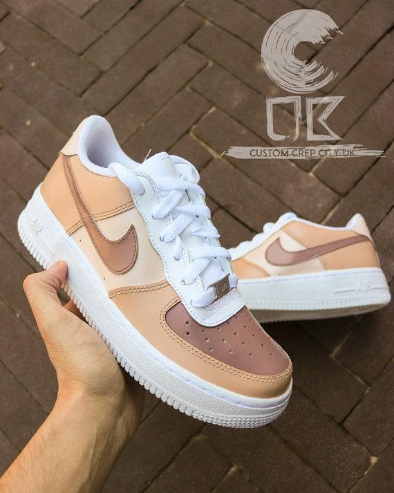 Custom Nike Air Force 1 Toffee Takeover Caramel Custom AF1 | Etsy