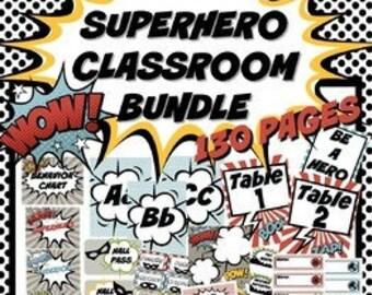 Classroom Superhero Etsy