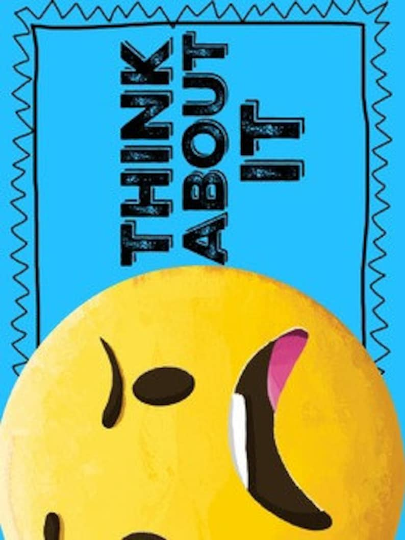 Bright Emoji 100 Page Classroom Decor Bundle Hashtag Etsy