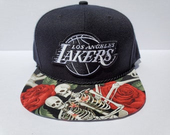 b0cf526934a92c NBA Los Angeles Lakers Custom Snapback: Rose Skeletons