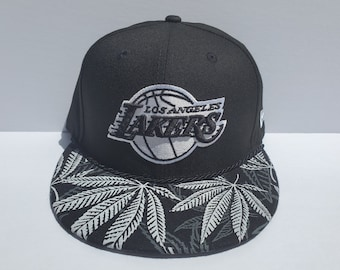 b82a3e1be9b288 NBA Los Angeles Lakers Custom Snapback: Black Forest