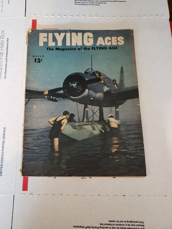 Two Rare Flying Aces Vintage Magazines 1943 Featuring Jimmy Etsy