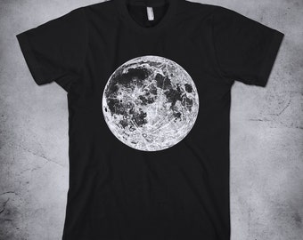 dddcc176a501 FULL MOON shirt, Viewed in full Sunlight Moon, Stipple engraving - 1805, Moon  t-shirt, Moon Phase, Astronomy Shirt, Full Moon tee