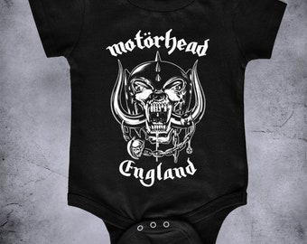 5cffc847 MOTORHEAD - baby one piece t-shirt bodysuit, metal baby, metal one piece,  MOTORHEAD kids infant, Romper Creeper, rock baby clothing