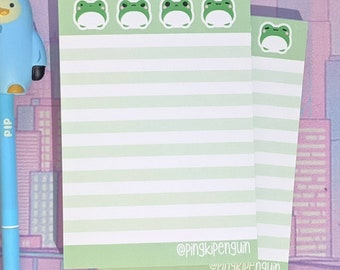 """Green Frog """"Pea"""" A6 Memopad"""