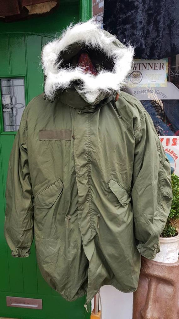 Vintage deadstock mod 1965 m65 US army fishtail pa