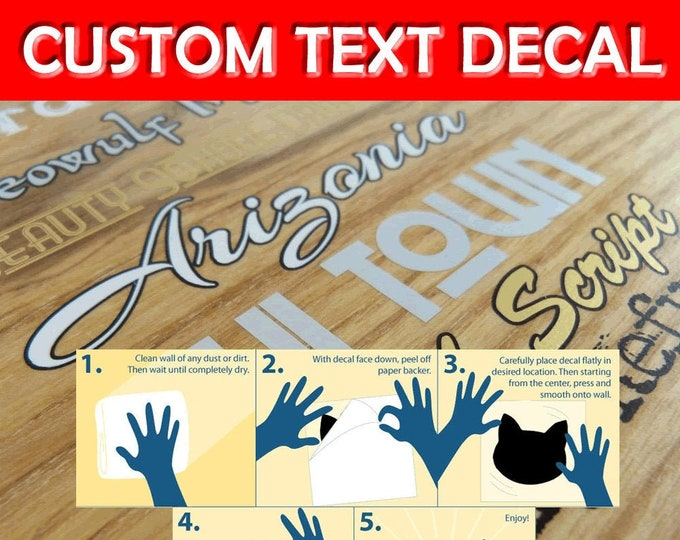 Custom Text Premium Vinyl Decal -  Fun Decals