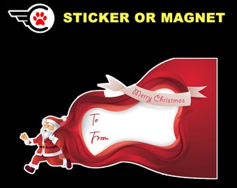 Personalized or Blank Standard or Vinyl Premium Sticker or Magnet with Optional UV Premium Laminate Protection or Fixative