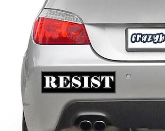Resist 10 x 3 Bumper Sticker