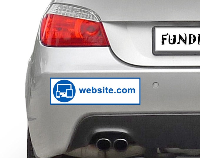 Website Url Your Custom Website Text Personalized 10 x 3 Bumper Sticker - Custom changes and orders welcomed!