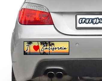 I Love California 10 x 3 Bumper Sticker - Custom changes and orders welcomed!