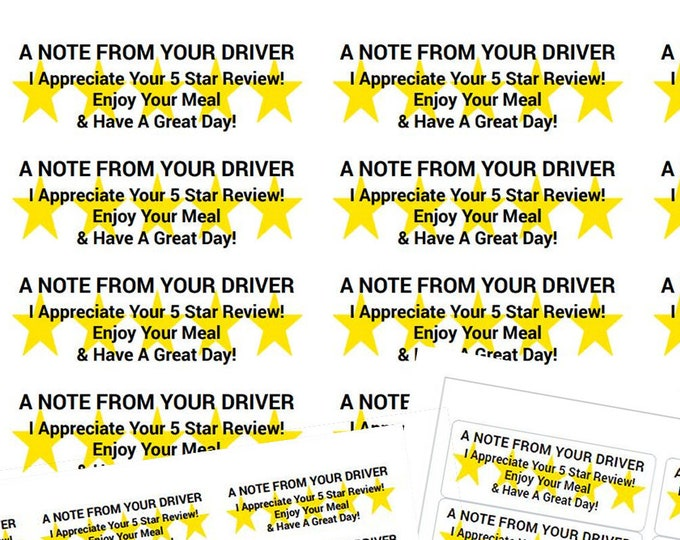 "Best Deal - 60, 150, 300, 450+ Skip The Dishes, Uber Eats, Door Dash Review Labels 1"" x 2-5/8"" 30up per sheet"