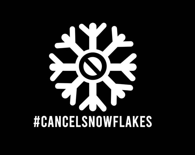 T-Shirt cancel snowflakes Quality T-Shirt. Vinyl Print Full Color, Uniquely Designed To Stand Out