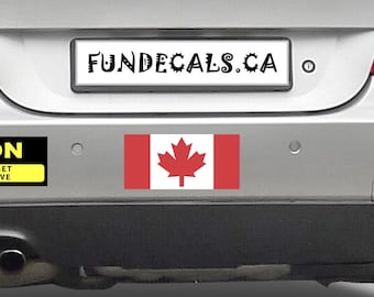 2X CANADA Flag 7 x 3 inch Bumper Sticker or Magnetic Bumper Sticker Available