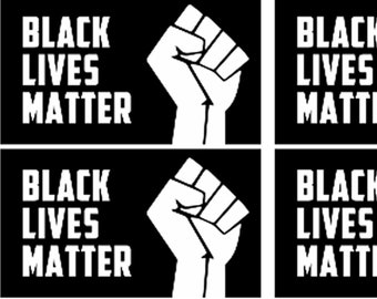 """8x Black Lives Matter Stickers or Magnet in size 2"""" x 3.5"""" vinyl or standard with / laminate uv protection"""
