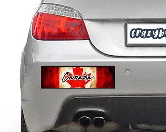Canada 10 x 3 Bumper Sticker - Custom changes and orders welcomed!