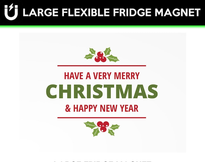 Christmas large fridge magnet 6.5 inch x 9 inch premium large magnet coated in uv laminate protection