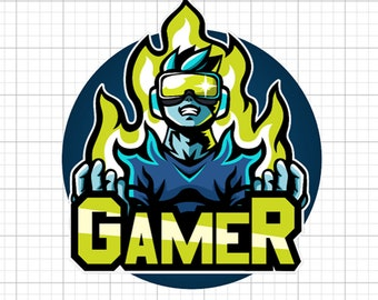GAMER Sticker in standard, photo or vinyl print materials with laminate or magnet options available.  Premium full color.