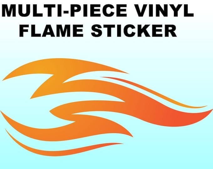 "Flames vinyl sticker in various widths, 3"" to 9"""