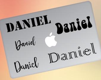 Laptop Name Decal, Custom Name Decal, Laptop Name Sticker, Custom Name Laptop Decal, Custom Name Sticker