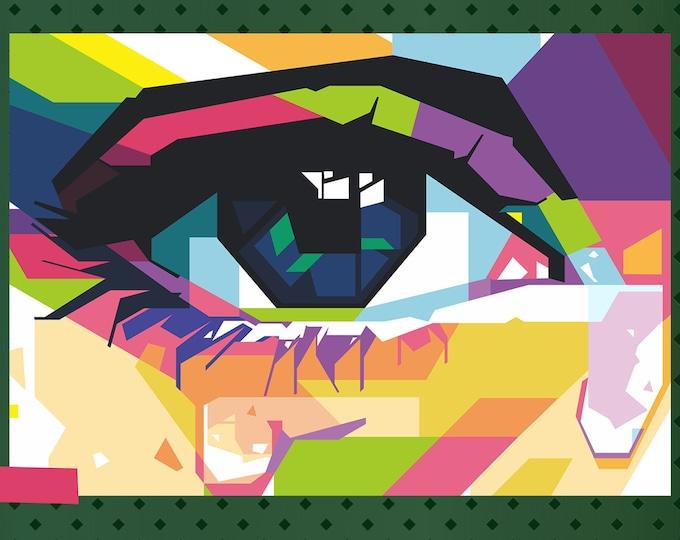 "Eyeball Vinyl Sticker or Magnet, Vinyl Sticker, Laminate, UV Laminate and Magnet options from 1"" to 6"""