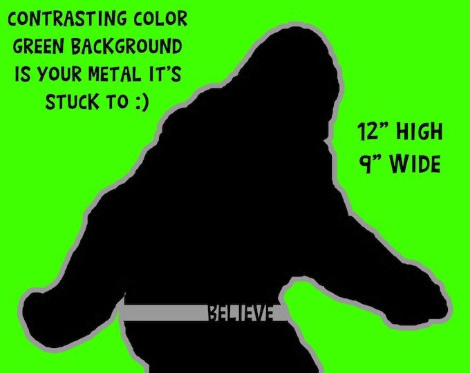 "Large Bigfoot Sasquatch Satin Laminated Vinyl Sticker or Magnet - 9"" wide by 12"" high, large fridge 20 mil die-cut magnet or die-cut sticker"