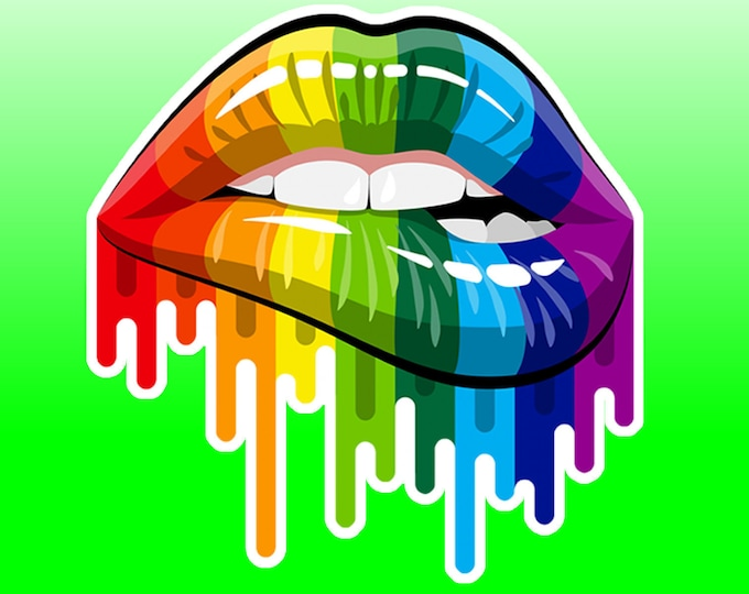 Gay Pride High Quality Vinyl Sticker or Magnet VARIOUS SIZES with laminate coating