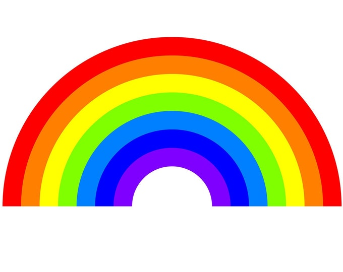 """4X Rainbow Vinyl Sticker with UV Laminate or MAGNET in various sizes up to 8"""" in our 4 pack"""