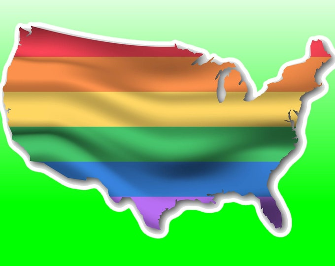 """Pride USA sticker or magnet in various widths, 3"""" to 9"""""""