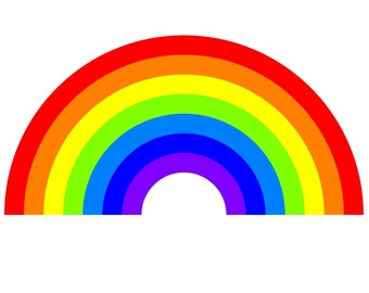 """Rainbow Vinyl Sticker with UV Laminate or MAGNET in various sizes up to 8"""""""