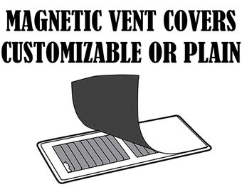 8 inch X 10 inch Magnetic Vent Cover - customization print - color or basic white etc.