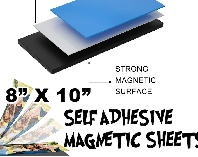 "Self Adhesive Magnetic Sheets 8"" x 10"" - great for fridge magnets or what have you!"