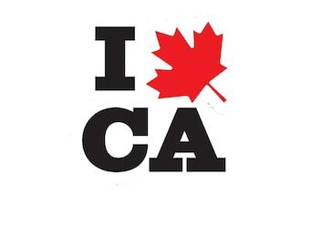 I Canada vinyl decal