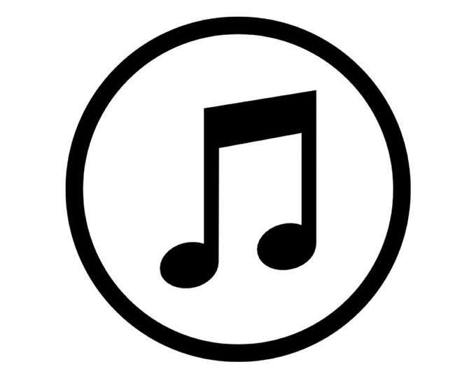 Music Symbol Vinyl Decal - various sizes and colors - colours
